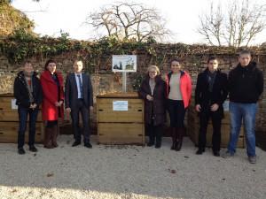 Inauguration d'un point de compost au lycée Clos-Maire